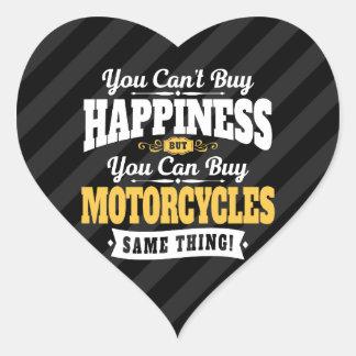 モーターサイクリストの傾斜の買物の幸福はオートバイを買うことができます ハートシール