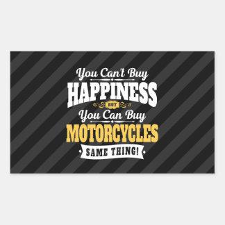 モーターサイクリストの傾斜の買物の幸福はオートバイを買うことができます 長方形シール
