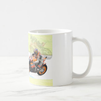 モーターバイクのデザインの友人の詩のマグ コーヒーマグカップ