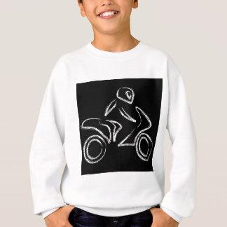 モーターバイクのバイクもしくは自転車に乗る人 スウェットシャツ