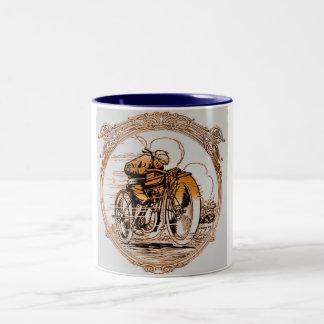 モーターバイクのレーサー ツートーンマグカップ