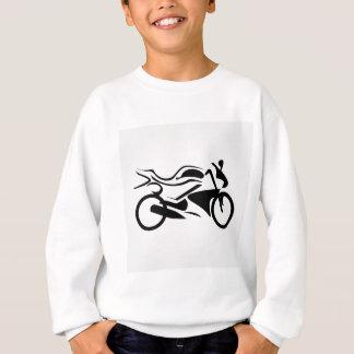 モーターバイクの抽象的なスケッチ スウェットシャツ