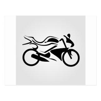 モーターバイクの抽象的なスケッチ ポストカード