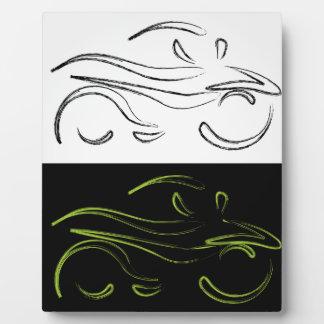 モーターバイクの芸術的なグラフィック フォトプラーク