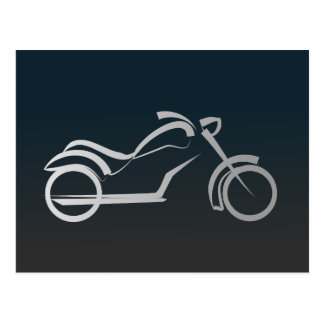 モーターバイクの芸術的なシルエットのイラストレーション ポストカード