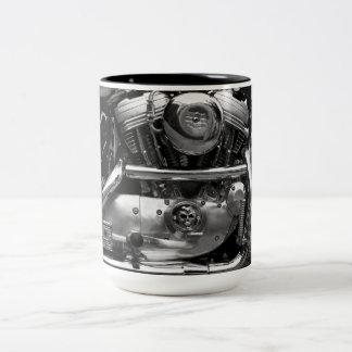 モーターバイクエンジンのマグ ツートーンマグカップ