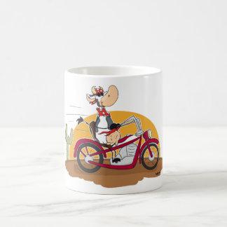 モーターバイク牛 コーヒーマグカップ