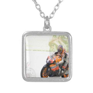 モーターバイク シルバープレートネックレス