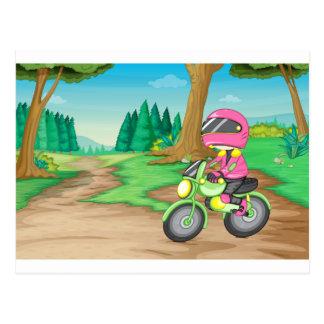 モーターバイク ポストカード