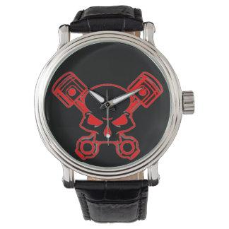 モーターヘッドヴィンテージ革腕時計 腕時計