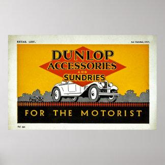 モーターリストのためのDunlopの付属品そして雑貨 ポスター
