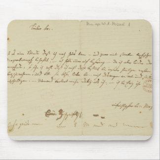 モーツァルトからのフリーメーソン会員への手紙、1786年1月 マウスパッド