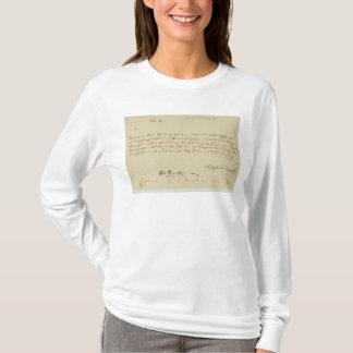 モーツァルトからのフリーメーソン会員への手紙、1786年1月 Tシャツ
