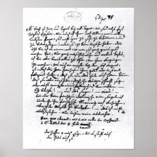 モーツァルトからの彼の父への手紙、4月5日 ポスター