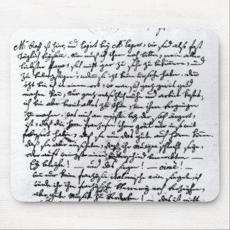 モーツァルトからの彼の父への手紙、4月5日 マウスパッド
