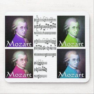 モーツァルトのポップアートのmouspad マウスパッド