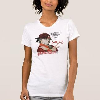 """モーツァルトのヨーロッパ旅行ワイシャツ(女性"""" sの軽い前部) tシャツ"""