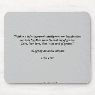 モーツァルトの引用文 マウスパッド