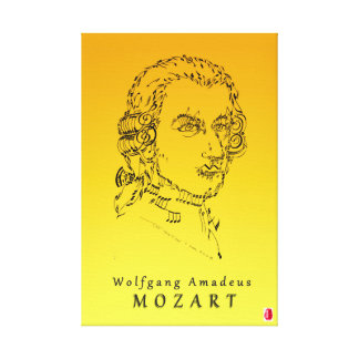 モーツァルトは音楽に直面します キャンバスプリント
