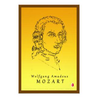 モーツァルトは音楽に直面します フォトプリント