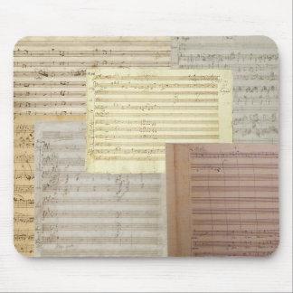 モーツァルト音楽原稿 マウスパッド