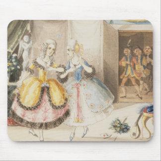 モーツァルト1840年著「Cosiファンtutte」のからのキャラクター マウスパッド