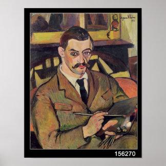 モーリス・ユトリロ1921年のポートレート ポスター