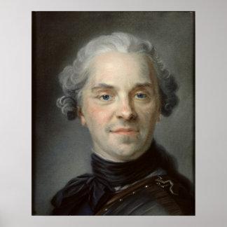 モーリス、Comte de Saxe 1747年のポートレート ポスター
