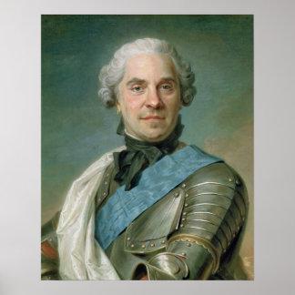 モーリスComte de Saxeのポートレート ポスター