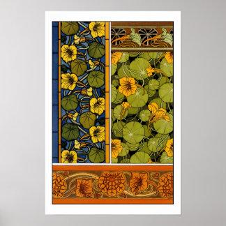 モーリスPillard (dit Verneuil)の花の芸術Nouvea ポスター