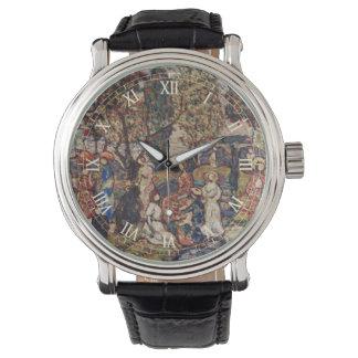 モーリスPrendergastのヴィンテージのファインアート著秋 腕時計