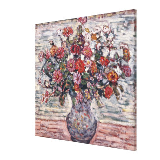 モーリスPrendergastのヴィンテージの花柄の芸術著ジニア キャンバスプリント