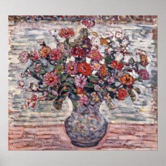モーリスPrendergastのヴィンテージの花柄の芸術著ジニア ポスター