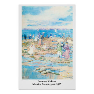 モーリスPrendergastの夏の訪問者 ポスター