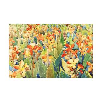 モーリスPrendergast -花の水彩画の絵画 キャンバスプリント