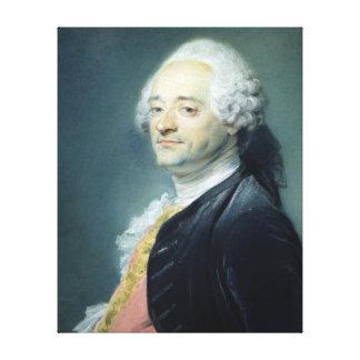 モーリスQuentin de la Tour 1750年のポートレート キャンバスプリント