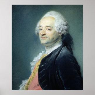 モーリスQuentin de la Tour 1750年のポートレート ポスター