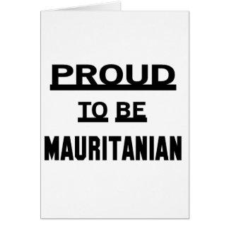 モーリタニアがあること誇りを持った カード
