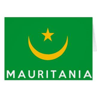 モーリタニアの国旗の記号の名前の文字 カード