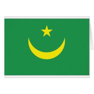 モーリタニアの国旗 カード