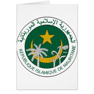 モーリタニアの国民のシール カード