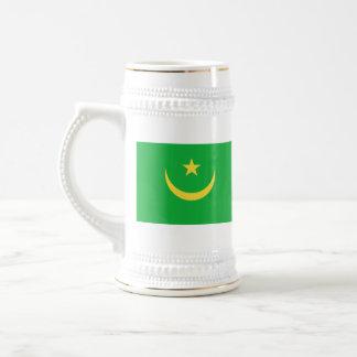 モーリタニアの旗の~の地図のマグ ビールジョッキ