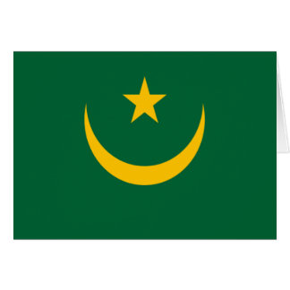 モーリタニアの旗 カード