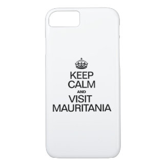 モーリタニア穏やか、訪問保って下さい iPhone 8/7ケース