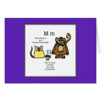 モーリーおよびMarlieは昼食のメッセージカードをしよう カード