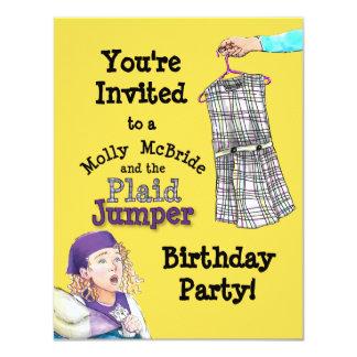 モーリーのMcBrideの格子縞のジャンパーのパーティーの招待 10.8 X 14 インビテーションカード