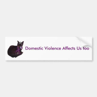 モーリーは、家庭内暴力私達に影響を与えますも バンパーステッカー