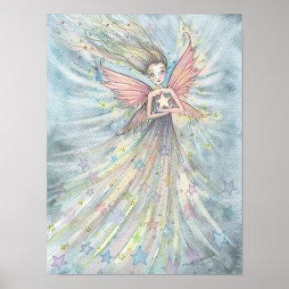 モーリーハリスンによるかわいくガーリーな星の妖精 ポスター