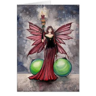 モーリーハリスンによるクリスマスの妖精カード カード