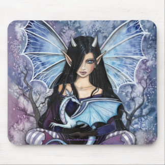 モーリーハリスンによるゴシック様式妖精のドラゴンのマウスパッド マウスパッド
